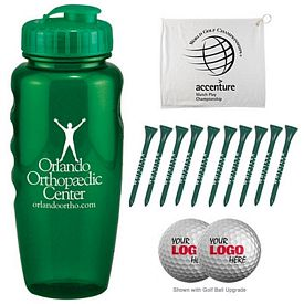 Customized Gripper Bottle Golf Outing Kit