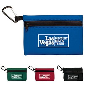 Promotional Neoprene Ditty Bag W-Carabiner