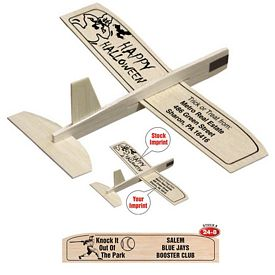 """Promotional 8"""" Balsa Wooden Toy Airplane Glider Baseball"""