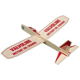 "Promotional 12"" Balsa Wooden Toy Airplane Glider"