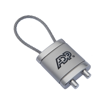 Promotional Podium Cable Keychain
