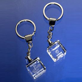 Customized Square Optical Crystal Key Chain