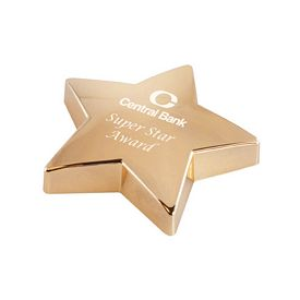 Promotional Super Star Gold Paperweights
