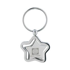 Promotional Spinning Star Keychain