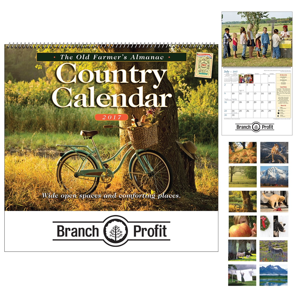 Promotional The Old Farmer\'s Almanac Country Wall Calendar - Spiral ...