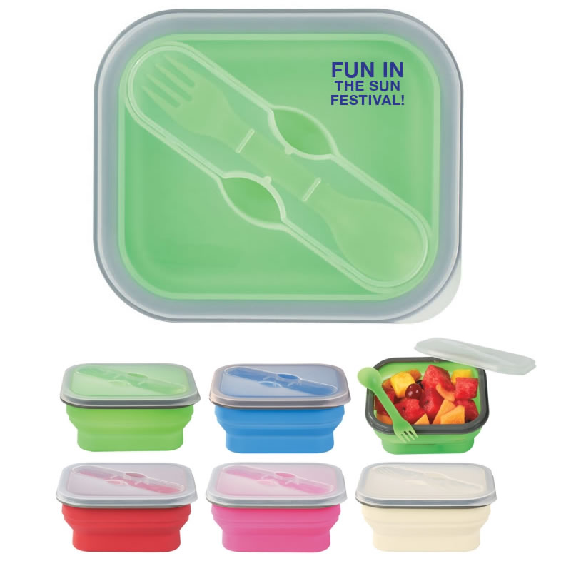 Customized Collapsible Food Container Promotional Collapsible Food