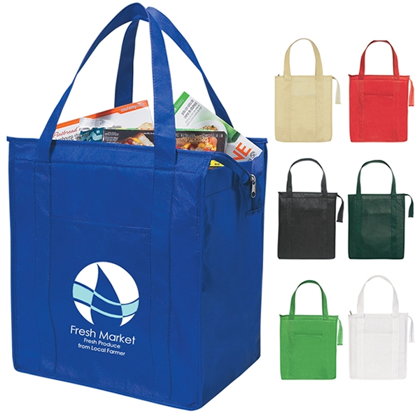 484ddd435f Promotional Non-Woven Insulated Shopper Tote Bag