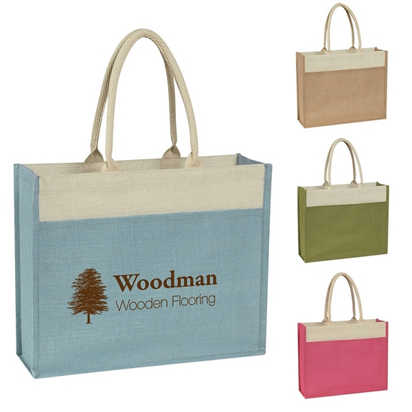 de475d709 Promotional Jute Tote with Front Pocket | Customized Jute Tote with ...