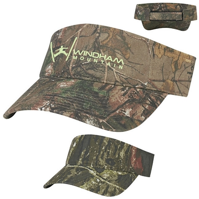 Customized Realtree Mossy Oak Visor