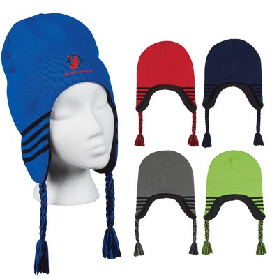 Promotional Ski Beanie With Ear Flaps