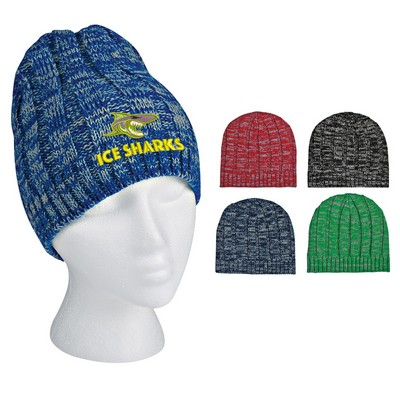 Promotional Knit Heathered Beanie Cap