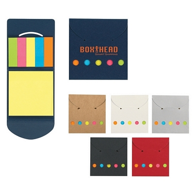 Customized Sticky Notes And Flags In Pocket Case