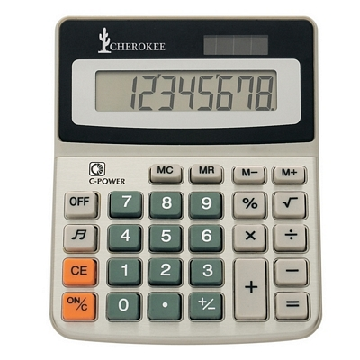 Promotional 8-Digit Display Solar Powered Calculator