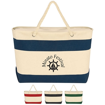 Custom Large Cruising Tote Bag With Rope Handles