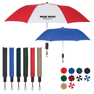 Promotional 44 Arc Auto-Open Folding Umbrella