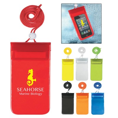 Promotional Waterproof Pouch With Neck Cord