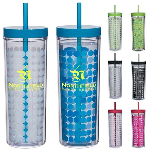 Custom 16 Oz Color Changing Mood Straw Tumbler