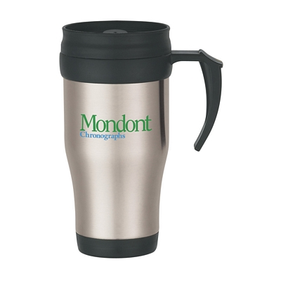 Custom 16 Oz Stainless Steel Travel Mug With Slide Action Lid