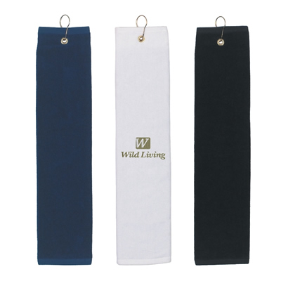Promotional 100 Cotton Folded Golf Towel