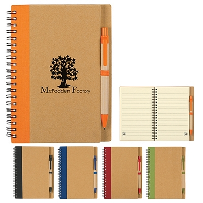 Customized Eco Spiral Notebook Pen