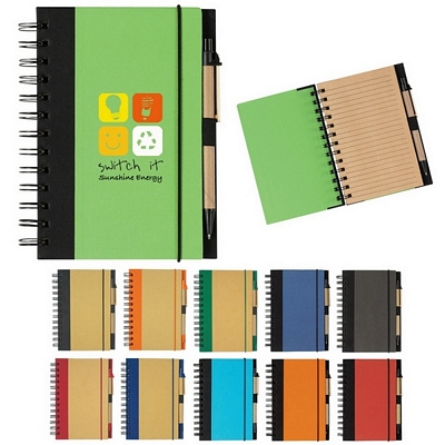 Promotional Eco-Friendly Spiral Notebook Pen
