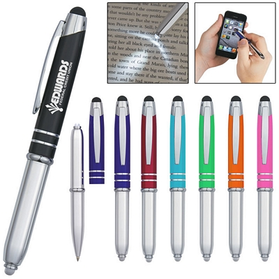 Customized Flip Around Stylus Led Light Pen