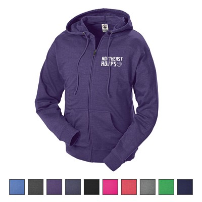 Custom Delta Adult Unisex French Terry Fleece Zip Hoodie