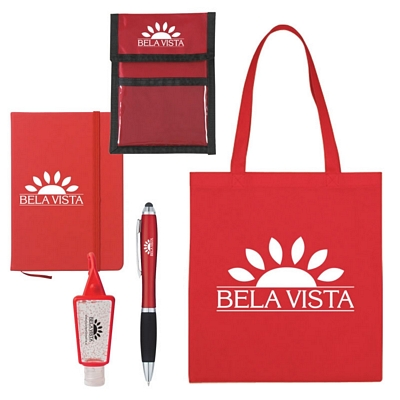 Promotional Tradeshow Tote Notebook Survival Kit