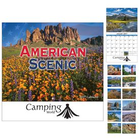 Customized American Scenic Wall Calendar - Stapled
