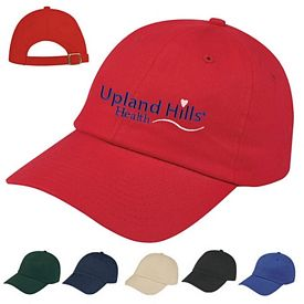 Customized Embroidered Brushed Cotton Twill Cap