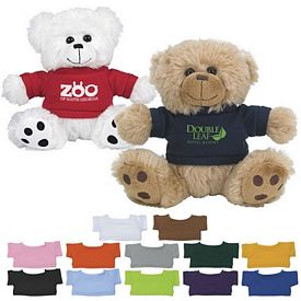Promotional 6 Big Paw Plush Bear With Shirt