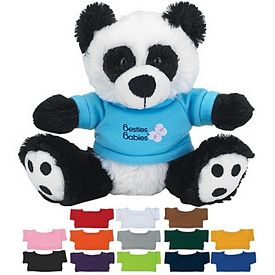 Customized 6 Big Paw Plush Panda With Shirt