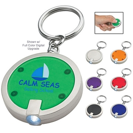 Promotional Round Squeeze LED Key Chain