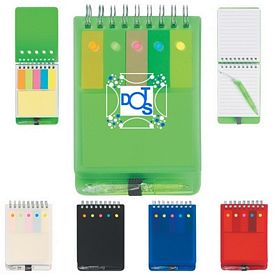 Promotional Spiral Sticky Note Jotter With Pen