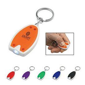 Promotional Push Button LED Key Chain