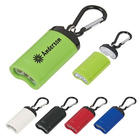 Customized Quick Release Magnetic Flashlight With Carabiner