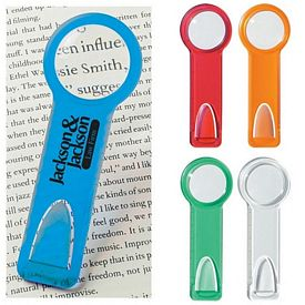 Promotional Magnifying Glasses: Promotional Plastic 2 Ruler with Circular Magnifying Glass