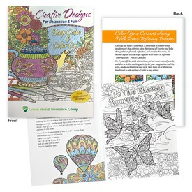 Promotional Creative Designs For Relaxation Fun Adult Coloring Book