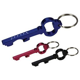 Promotional Bottle Openers: Promotional Key Shape Bottle Opener Engraved Key Ring