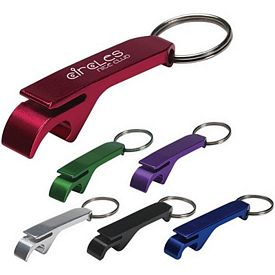 Promotional Aluminum Bottle-Can Opener Key Ring
