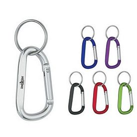 Promotional 6mm Carabiner With Split Ring