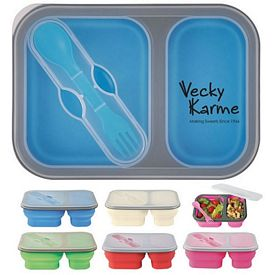 Customized Collapsible 2-Section Food Container