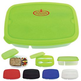 Promotional 2 Section Lunch Container
