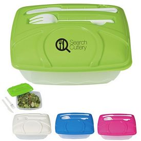 Promotional Wave Utensil Lunch Container