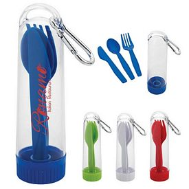Customized Portable Utensil Kit With Carabiner