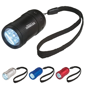 Promotional LED Flashlights: Promotional Aluminum Small Stubby Led Flashlight With Strap