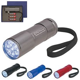 Promotional LED Flashlights: Promotional The Stubby Aluminum Led Flashlight With Strap