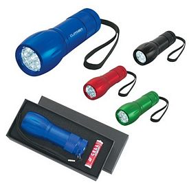 Promotional LED Flashlights: Promotional Aluminum Led Torch Light With Strap