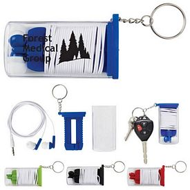 Promotional Ear Bud Cord Organizer Key Chain