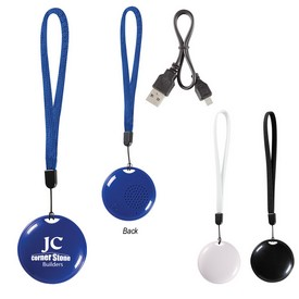 Promotional Round Speaker With Wristband